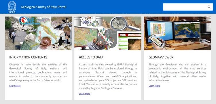 On-line il nuovo Portale del Servizio Geologico d'Italia
