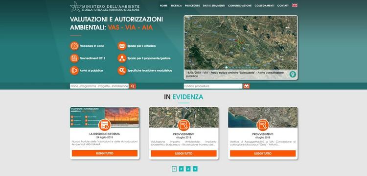 Nuovo Portale VAS-VIA-AIA, punto di accesso unico a tutte le procedure di valutazione e autorizzazione ambientale