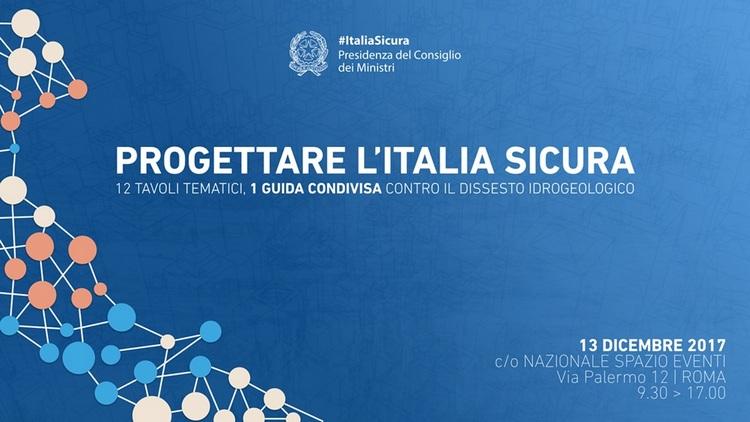Progettare l'Italia Sicura,  il 13 dicembre a Roma