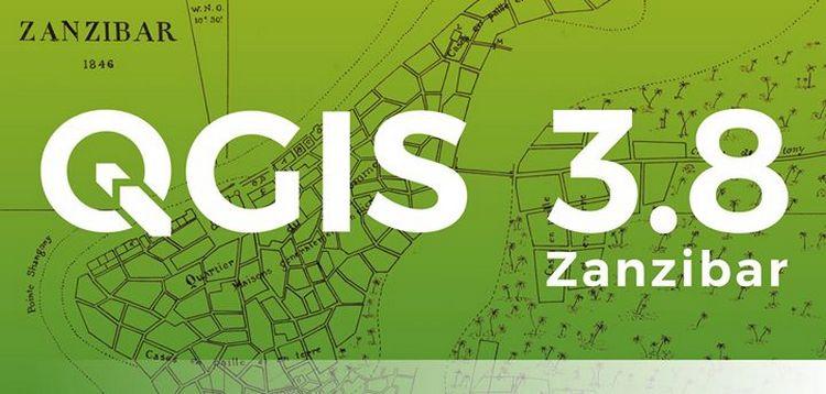 QGIS disponibile la nuova versione 3.8 Zanzibar