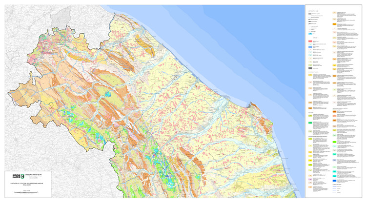 Regione Marche, cartografia geologica regionale