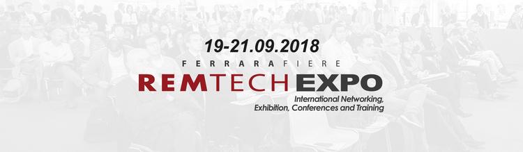 RemTech Expo, 19-21 Settembre 2018 – Ferrara Fiere Congressi