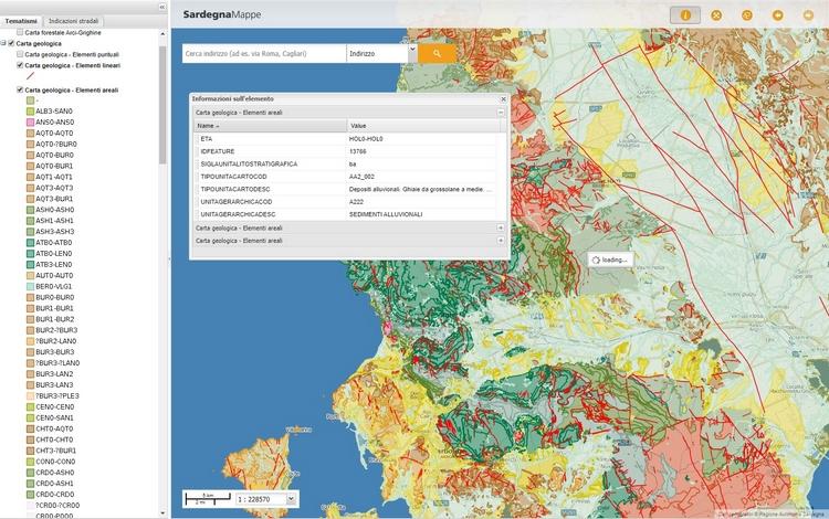 La cartografia geologica di base della Sardegna