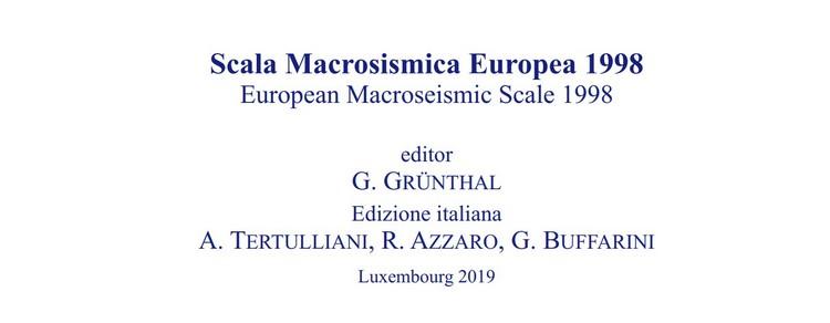 Scala macrosismica europea EMS-98, pubblicata la versione italiana