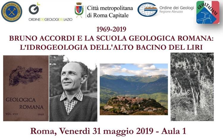 Bruno Accordi e la Scuola Geologica Romana: l'idrogeologia dell'alto bacino del Liri