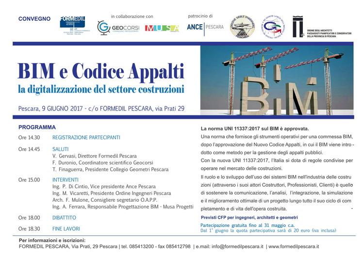 """Seminario """"Bim e Codice Appalti: la digitalizzazione del settore costruzioni"""""""