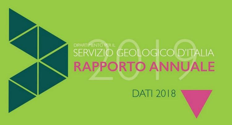 Rapporto Annuale 2019 del Servizio Geologico d'Italia, disponibile online