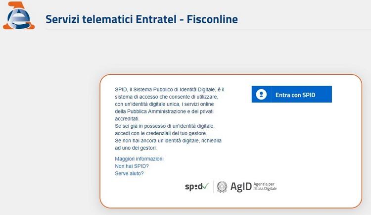 Tutti i servizi web dell'Agenzia delle Entrate accessibili tramite SPID