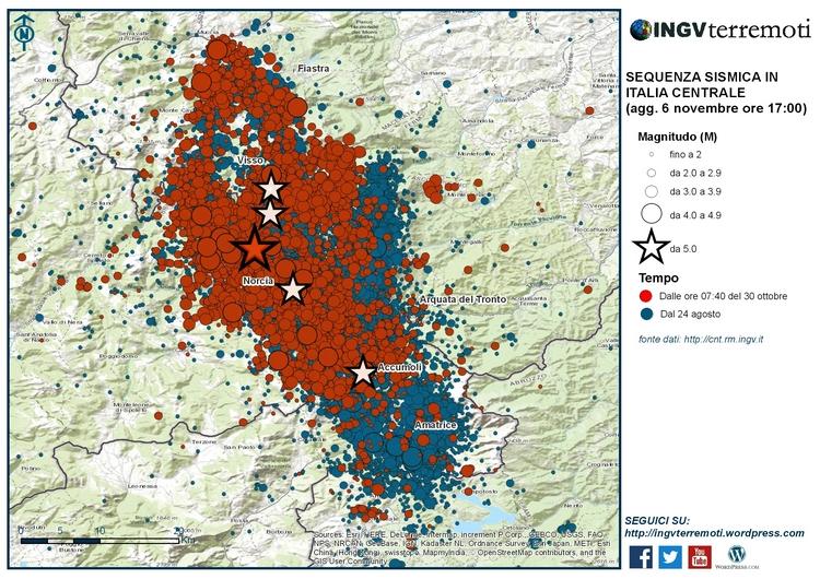 INGV; Rapporto di sintesi sul terremoto M 6.5 in Centro Italia