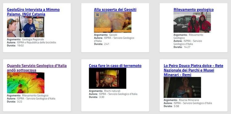 Servizio Geologico d'Italia, online una nuova sezione video