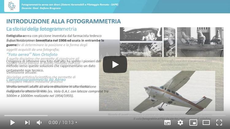 Fotogrammetria aerea con droni  (Lezione 1)