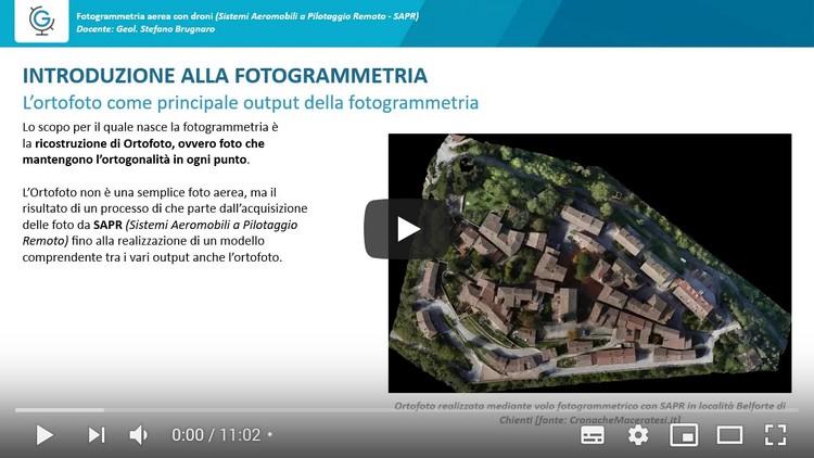 Fotogrammetria aerea con droni  (Lezione 2)