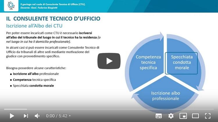 Il Geologo nel ruolo di Consulente Tecnico d'Ufficio - CTU (Lezione 2)