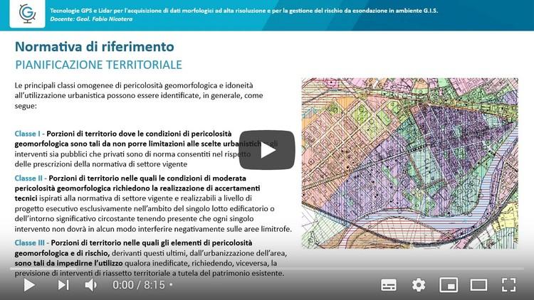 Tecnologie GPS e Lidar per l'acquisizione di dati morfologici ad alta risoluzione e per la gestione del rischio da esondazione in ambiente G.I.S. (Lezione 2)