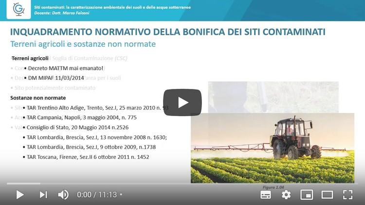 Siti contaminati: la caratterizzazione ambientale dei suoli e delle acque sotterranee (Lezione 2)
